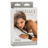 ОШЕЙНИК С НАРУЧНИКАМИ BONDAGE COLLECTION COLLAR AND WRISTBANDS PLUS SIZE